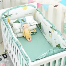Новые 6 шт мультфильм плоскости детская мягкие бортики для кровати для мальчиков детская кроватка бампер детская кровать протектор кроватки бампер новорожденных кровать для малыша Постельное белье MIRACLE BABY 32860996134