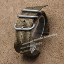 Ремешок для часов нейлон 22 мм 24 мм военные часы band нейлон ремешок для НАТО зулу Нержавеющая сталь пряжки Кольца два куска стиль модные zhuolei 32371288739