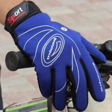 2018 осень-зима теплые велосипедные перчатки Спортивные ветрозащитный Сенсорный экран перчатки Для мужчин Для женщин кожаные перчатки высокого качества Aolikes 32848599776