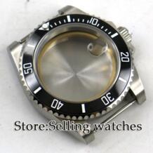 40 мм сапфировое стекло черный керамический ободок стальной корпус часов подходит для движения 2824 2836 Parnis 32909003098