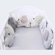Лидер продаж, 6 шт./партия, детская кроватка с амортизатором, детская кроватка с бампером слона, детская кровать, защитная кроватка, бампер для новорожденных, кровать для малыша, Комплект постельного белья E-Chin 32852928096
