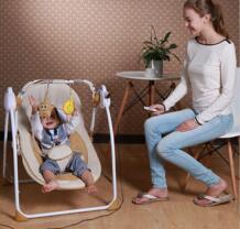 Новые поступления Электрический металла ребенка вышибала качели-качалка безопасный Портативный новорожденных детская спальная корзина No name 32858619672