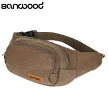 Холст Три молнии карманы поясная грудь талия сумка с сотового телефона чехол SANWOOD 32686031296