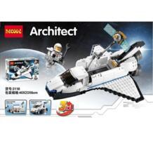 Decool 3 Модель 3118 285 + шт Galaxy Космический корабль строительные Конструкторы кирпичи набор игрушечные лошадки для lego техника ЛПС LELE Creator 31066 10231 No name 32845785872