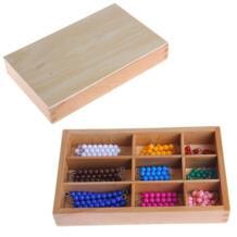 Монтессори пособие по математике 1-9 бусины бар в деревянной коробке ранние игрушка для детей младшего возраста OOTDTY 32827287765