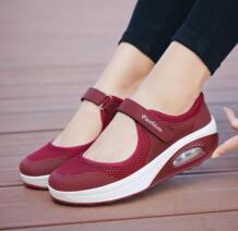 2019 летние модные женские туфли на плоской платформе; женская Повседневная дышащая обувь из сетчатого материала; мокасины; zapatos mujer; женские туфли-лодочки; sapatos TALENTTREE 32790534942
