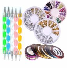 пилочки для ногтей набор инструментов для искусства 10 шт. Стразы для ногтей рулоны ручка для ногтей маникюрный набор красоты 3D Блестящие кристаллы для ногтей украшения Bittb 32786985828