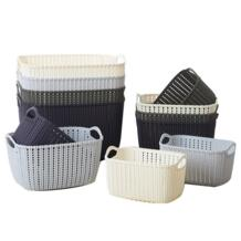 Кухня Ванная комната Desktop имитация плетеная корзина для хранения пластик корзины для хранения косметический макияж UPS хранения Strongwell 32831692015