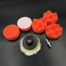 8 шт. 8 см полировальная подушка набор для авто полировки колеса Набор буфер с переходником для сверления автомобиля удаляет царапины и краски ручка HEONYIRRY 32877192830
