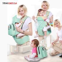 Кенгуру малышей Слинг младенческой эргономичный рюкзак хип сиденье новорожденных детская мягкая сумка Обёрточная бумага сумка-кенгуру с мумия сумки BB3031 TONICHELLA 32841473290