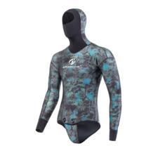 High end 3 мм неопрена профессионального дайвинга, гидрокостюм Длинные рукава разделены Сноркелинга гидрокостюм камуфляж водолазные костюмы для мужчин No name 32796692873