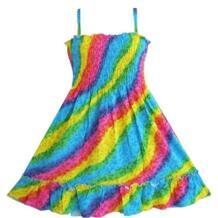 платья для девочек платье Радуга Копченый Недоуздок Дети Одежда Sunny Fashion 32434459703
