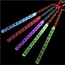 60 шт./лот красочный бар пожимая светодиодные светящиеся мечи флэш-палочки флуоресцентный волна стержни акриловые дети света игрушки вечерние украшения No name 32369202352