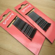 Металл женщина волос Pin Французская заколка u-образный зажим одинарный зубец черный No name 32890436328