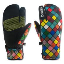 Для женщин детей зимний теплый для катания на лыжах перчатки водонепроницаемые ветрозащитные Мотоциклетные Перчатки Термальность снегоход перчатки для катания на лыжах, сноуборда Boodun 32848095759