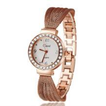 2019 Новый Повседневный роскошный бренд женские наручные часы для ношения с платьем классический браслет горный хрусталь кварцевые часы из розового золота Atmos часы CUSSI 1856970249