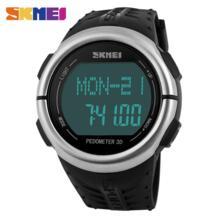 сердечного ритма спортивные часы Мужчины большой циферблат Мода цифровые наручные часы электронные светодиодные Будильник военные часы 1058 SKMEI 32711558356