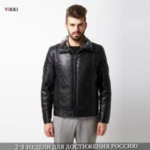 Очень высокое качество размер : L-6XL 2014 зима бренд мужской натуральный мех воротник двойной лицо кожаные пальто и куртки теплые парка плащ MJS900 No name 1976339891