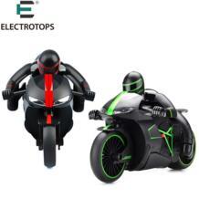 ET RC игрушки 333-MT01A 2.4 г Высокая скорость мотоцикла наклоняя 45 градусов вспышки света багги rc мотоциклетные Пульт дистанционного Управления мотоцикл No name 32677418563