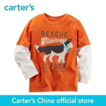 Carter's/1 шт. для маленьких детей с длинными рукавами Layered-Look Graphic Tee 225G497, продается из официального магазина Carter's в Китае No name 32802595367