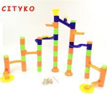 Мяч трек блоков детей DIY вставки трехмерный лабиринт Просвещения Развивающие игрушки No name 32863002656