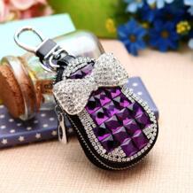 Натуральная кожа кожаный брелок для ключей, брелок для ключей для мужчин Организатор ключей экономки Для женщин брелок чехлы кейс на молнии сумка бумажник кошелек No name 32621088570