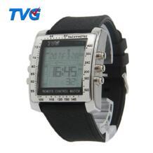 ТВ G пульт дистанционного управления ТВ DVD пульт дистанционного управления военные часы для мужчин цифровой из нержавеющей стали резиновый корпус ремешок спортивные часы Твг 32628603274