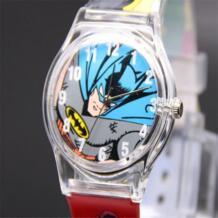 Прекрасный герой Marvel Бэтмен аналоговый оснастки на Силиконовые Спортивные кварцевые наручные пластиковые часы No name 32420369464