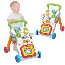 Ребенок сидеть-Stand обучения Walker тележки многофункциональный музыкальный Регулировка скорости Прогулки Обучение игрушечных автомобилей для На возраст от 0 до 2 лет лет No name 32848743974