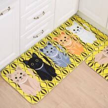 Мультфильм кошка коврик для ванной с принтом нескользящий коврик для ванной комнаты углы Нескользящие коврики пол ковер для кухни Ванная комната украшение дома GUIGUIHU 32814184251