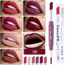 CmaaDu двойной конец стойкий увлажняющий Lipliner Водостойкий карандаш для губ Карандаш 6 цветов макияж блеск для губ Manooby 32961875957