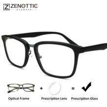 Ацетат Для мужчин очками оптические Модные прозрачные близорукость прогрессивные очки для чтения Для мужчин оптический BT2301 ZENOTTIC 32899713956