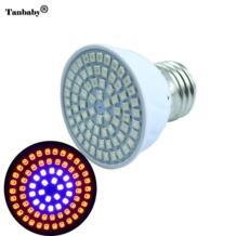 Полный спектр привели завод светать E27 36leds 54leds 72leds растет Лампы для мотоциклов для цветущих растений и гидропоника Наружное освещение Tanbaby 32710415135