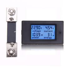 100A 6,5-100 В энергии измеритель постоянного тока Мощность цифровой Вт кВтч Meter Текущий Амперметр Вольтметр измерительный Панель высокого качества VKTECH 32804460506