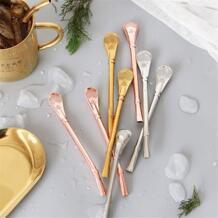 Современные здорового Нержавеющаясталь соломинки Многофункциональный Ins Vogue розовое золото ложки напитка фильтр и смешивания металлической ложкой SAFEBET 32833974189