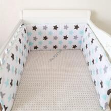 1 шт. мультфильм новорожденных бамперы волна звезда хлопка кроватка детская кроватка бампер комплекты в кроватку протектор для для девочек и мальчиков No name 32845238398