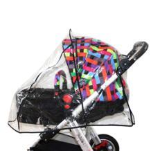 Behogar ПВХ коляска прогулочная коляска прозрачные непромокаемые крышка коляска дождя Защита от тени ветер пыль аксессуары-щиты No name 32864387001