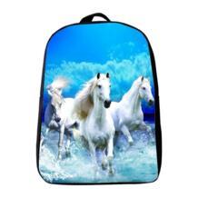 Горячая 12 дюймов Оксфорд печать животное лошадь детский сад маленький рюкзак детские школьные сумки детские мини школьный рюкзак для мальчиков LIAMTOM 32635499021