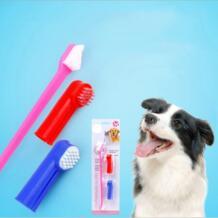 2 шт./компл. Pet моющие средства двойной Зубная щётка + палец Зубная щётка набор милая собака Pussy Ежедневно принадлежности No name 32865411300