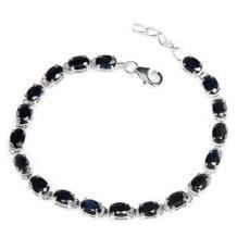 Сапфир браслет-цепочка натуральным сапфиром Бесплатная доставка серебро 925 Изящные синие камни Jewelry 0.6ct * 19 шт. камни No name 551215529