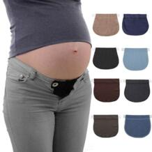 Для беременных и матерей после родов пояс Мягкий регулируемый эластичный Брюки удлинение талии Кнопка расширения мать свободные брюки пояс No name 32910623614
