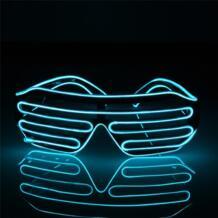 Мигающий EL wсветодио дный IRE LED очки светвечерние ящиеся вечеринки декоративное освещение классический подарок яркий свет фестиваль подарок светящийся рейв костюм noroomaknet 32814757501