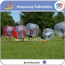 Построение команды игры 1.5 м 6 шт. 3 синий и 3red + 1 Воздуходувы надувные ПВХ loopyball костюм, зорбе мяч, пузырь Футбол, пузырь Футбол No name 32662958332