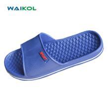 Waikol летние домашние тапочки Повседневное indoor Обувь модные пляжные сандалии мужские Обувь Нескользящие банные сандалии на плоской подошве No name 32638327715