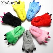 Милые тапочки с животными тапочки для мужчин и женщин шлепанцы для дома помещений зимние теплые короткие плюшевые тапочки X1039 35 XiaGuoCai 32783038039