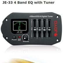 JE-33 4 полосный эквалайзер с тюнером низкий аккумулятор свет Фарфор палочки для гитары палочки держатель No name 528597144