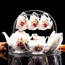 Прямая доставка 15 шт. Европейский Стиль костяного фарфора Кофе набор послеобеденный Чай Кофе горшок Чашки блюдца высокого Класс Керамика Утварь tcup 32859508225