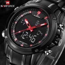 Топ люксовый бренд мужские военные спортивные часы мужские кварцевые светодиодный аналоговые часы мужские полностью Стальные наручные часы Relogio Masculino-in Спортивные часы from Ручные часы on AliExpress Naviforce календарная 32435311444
