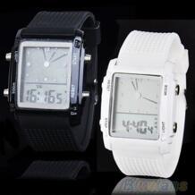 Модные женские мужские цифровые светодиодный хронограф кварцевые спортивные наручные часы 6XAJ SANWOOD 32701357472