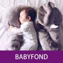 60 см слон сопровождается слон подушки, мягкие игрушки, like A Doll комфорта спальный кондиционер B No name 32866300231
